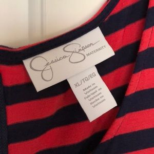 Jessica Simpson Dresses - Maternity dress w/ gathered sides, zipper in back